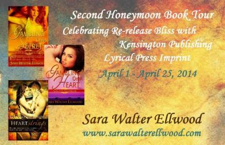 Blog tour, Gambling On A Secret, Gambling On A Heart, Heartstrings, Kensington Publishing, Lyrical Press, Sara Walter Ellwood