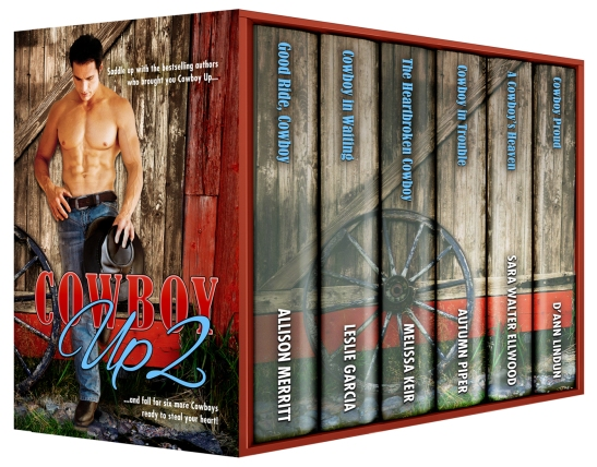 Cowboy Up, Cowboy Up 2, Sara Walter Ellwood, Allison Merritt, Melissa Keir, Autumn Piper, D'Ann Lindun, Contemporary Western Romance, Boxed Set, Anthology, Novella, Cowboy Romance, Best Seller,