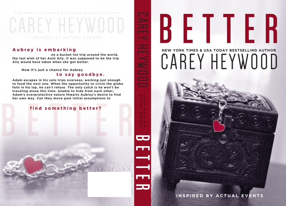 Carey Heywood, Better, Tasty Book Tours