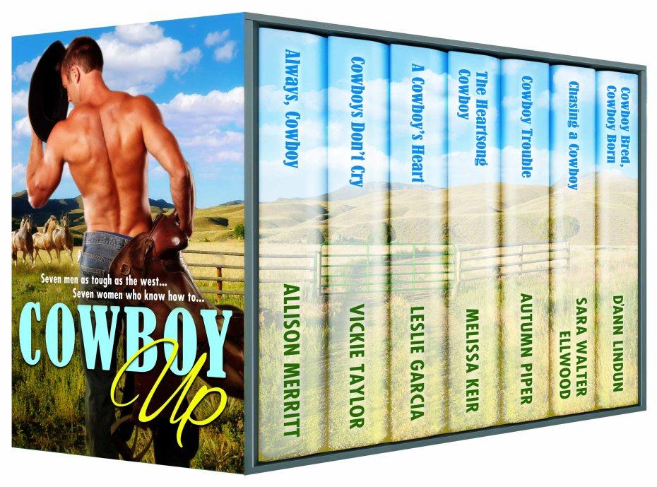Always Cowboy, Allison Merritt, Cowboys Don't Cry, Vicki Taylor, A Cowboy's Heart, Melissa Keir, Cowboy Trouble, Autumn Piper, Chasing a Cowboy, Sara Walter Ellwood, Cowboy Bred, Cowboy Born, D'Ann Lindun, Cowboy Up, boxed set, Contemporary Western Romance, cowboys