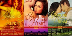 Gambling On A Secret, Gambling On A Heart, Gambling On A Dream, Sara Walter Ellwood, contemporary western romance, romantic suspense, cowboy romance, Texas romance, small town romance, Colton Gamblers, Lyrical Press, Kensington Publishing, Native American romance